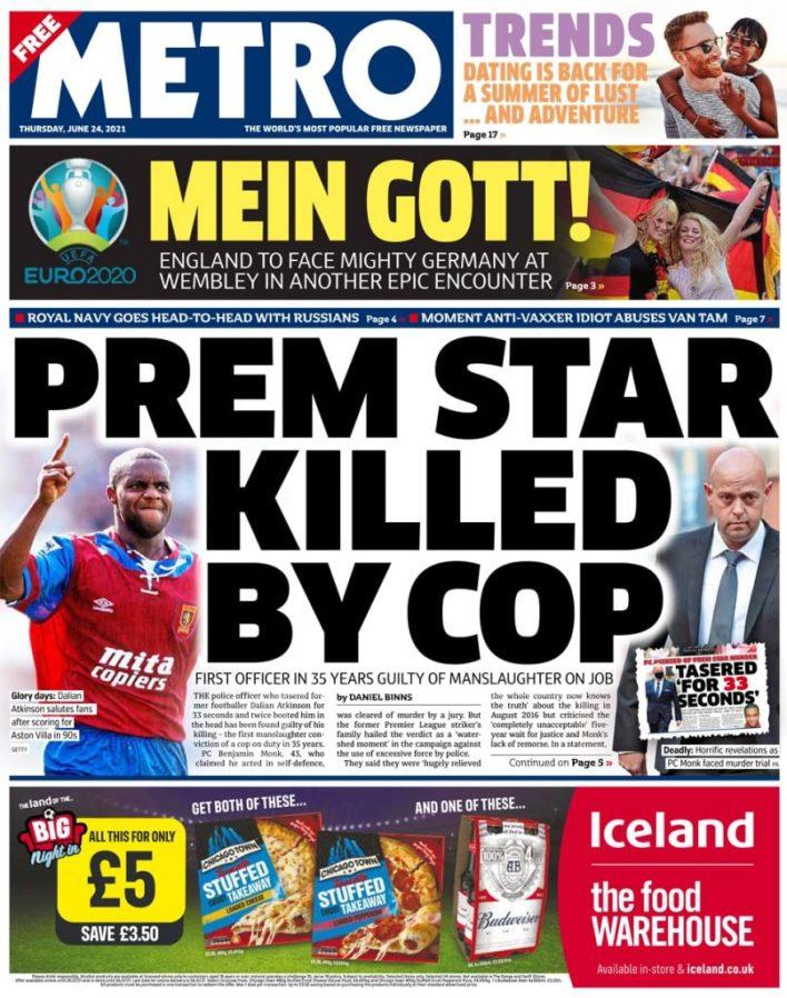 Newspaper headlines of Monday, June 28, 2021 8