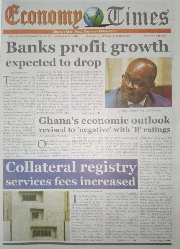 Newspaper headlines of Monday, June 28, 2021 11
