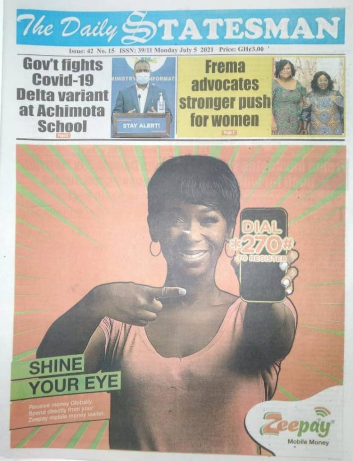 Newspaper Headlines: Monday, July 5, 2021. 100