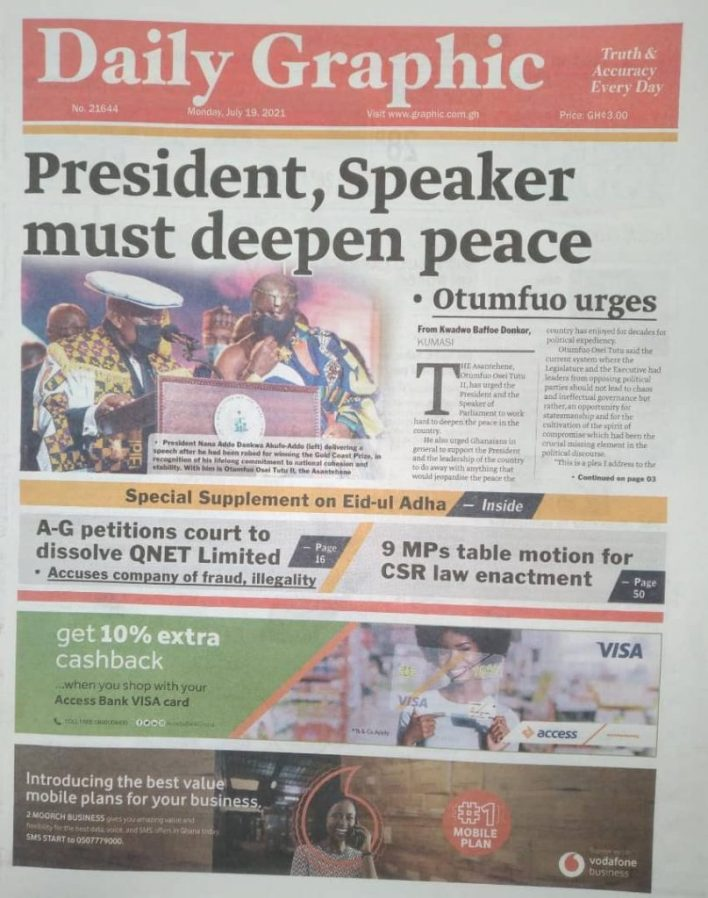 Today's Newspaper Headlines Of Monday July 19, 2021 6