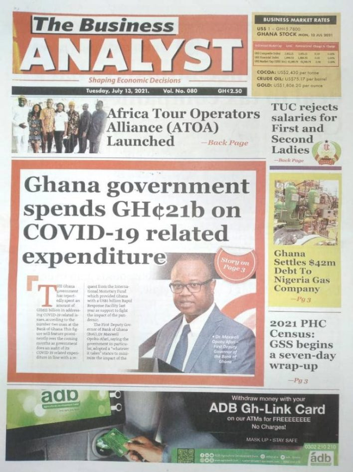 Today's Newspaper Headlines, Tuesday July 13, 2021 3