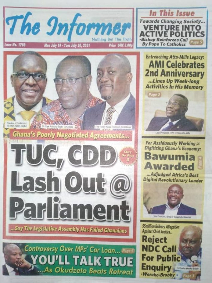 Today's Newspaper Headlines Of Monday July 19, 2021 9