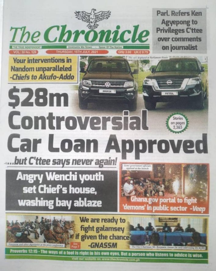Today's Newspaper Headlines Of Thursday July 15, 2021 8