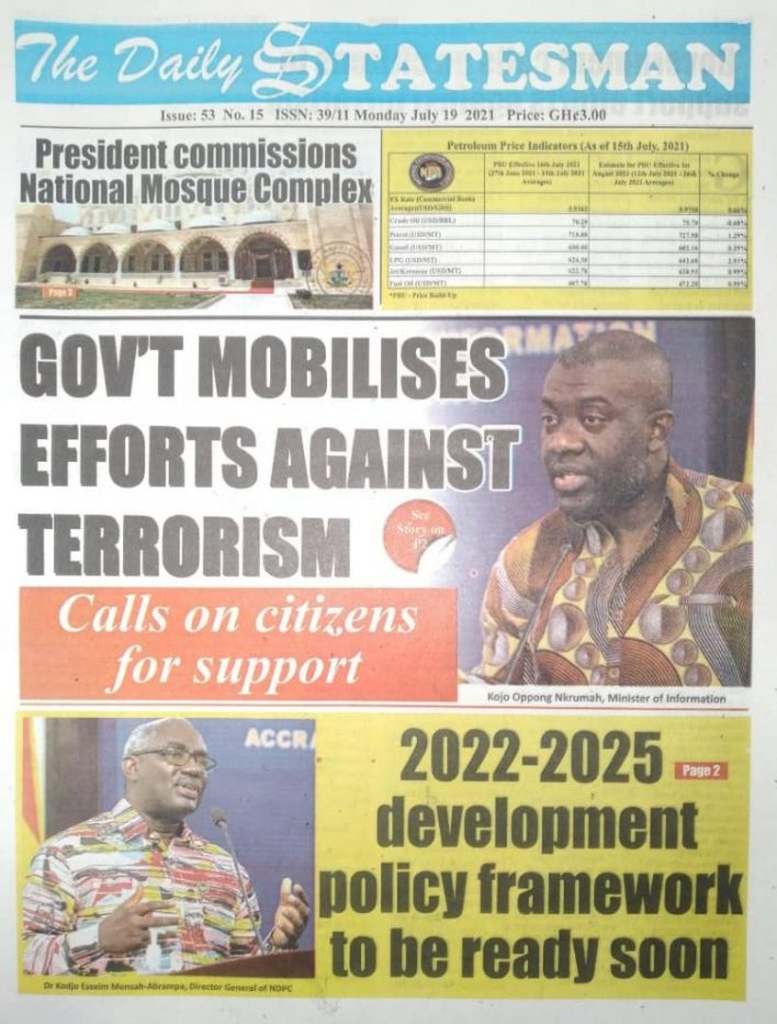 Today's Newspaper Headlines Of Monday July 19, 2021 3