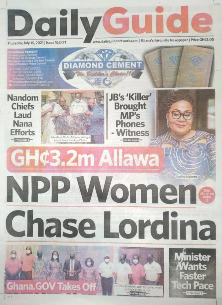 Today's Newspaper Headlines Of Thursday July 15, 2021 1