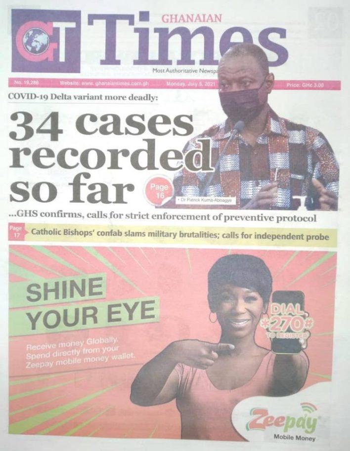 Newspaper Headlines: Monday, July 5, 2021. 95