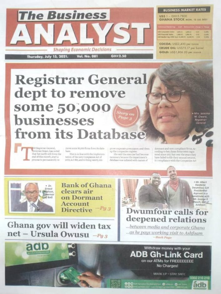 Today's Newspaper Headlines Of Thursday July 15, 2021 2