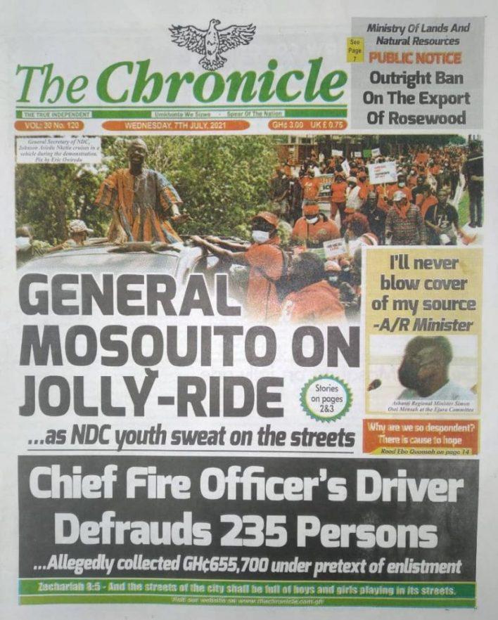 Newspaper headlines of Wednesday, July 7, 2021 6