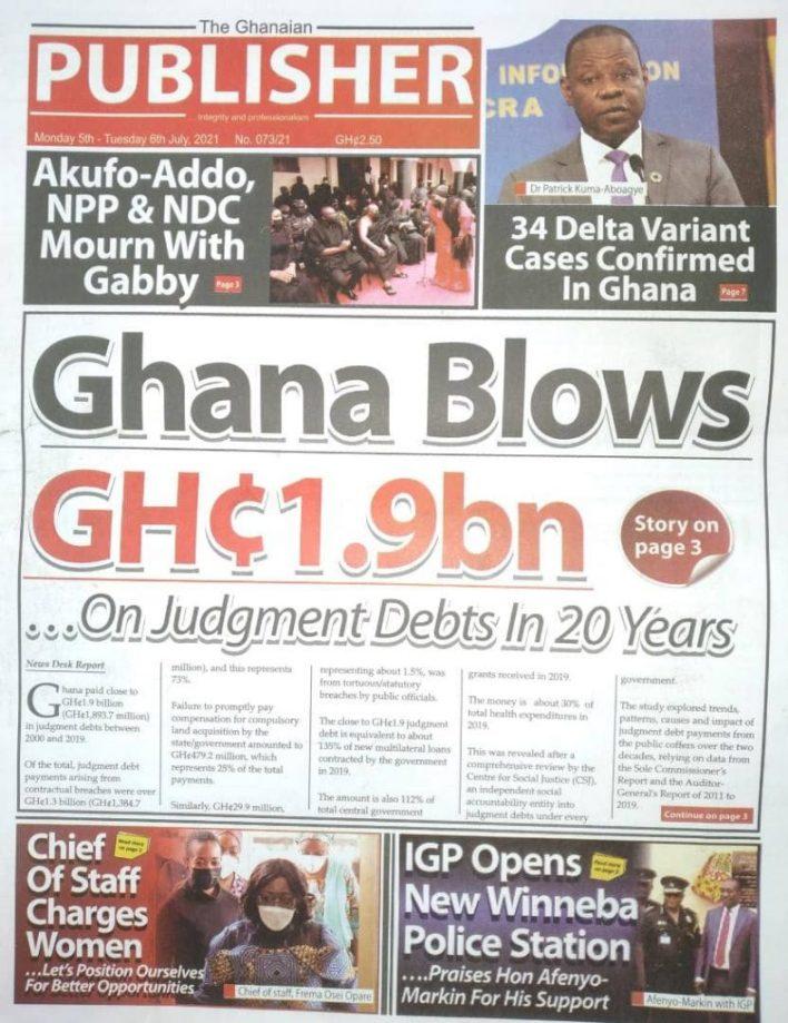 Newspaper Headlines: Monday, July 5, 2021. 98