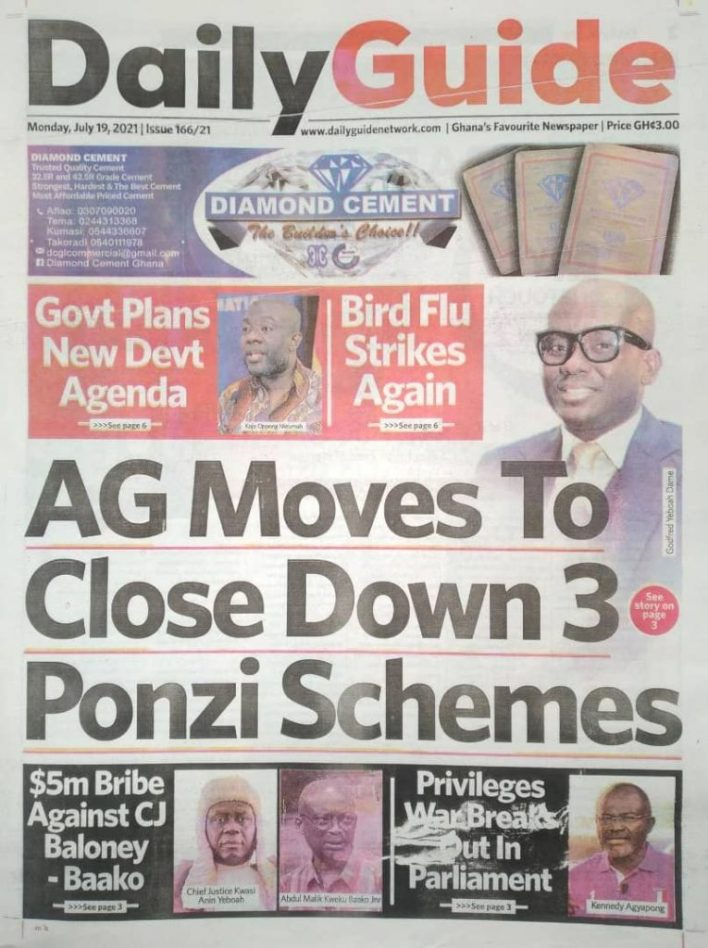 Today's Newspaper Headlines Of Monday July 19, 2021 8