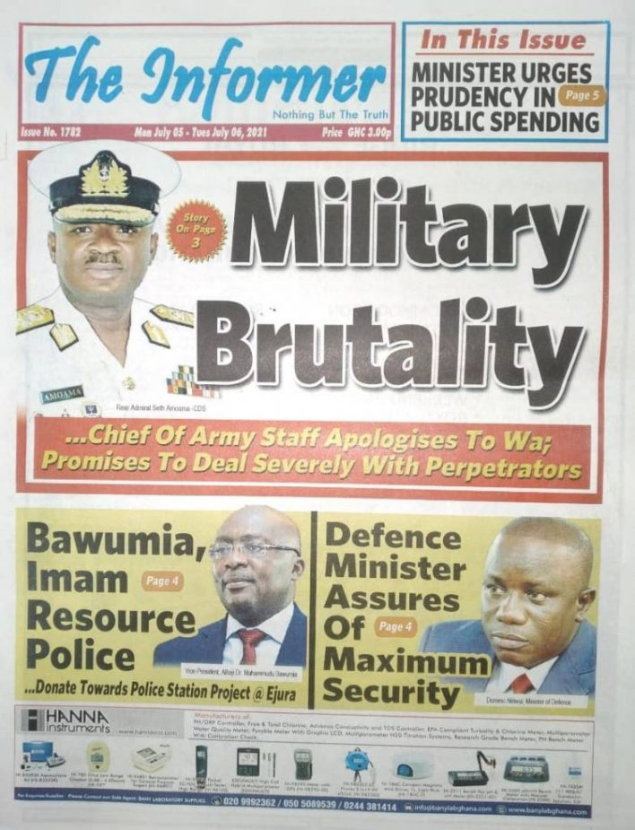 Newspaper Headlines: Monday, July 5, 2021. 103