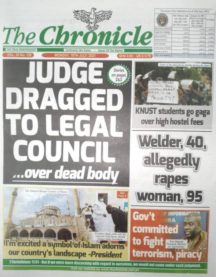 Today's Newspaper Headlines Of Monday July 19, 2021 1