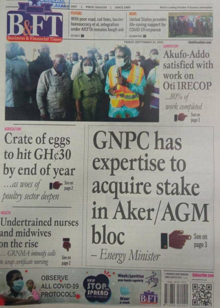 Newspaper Headline Of Friday, September 10, 2021 2