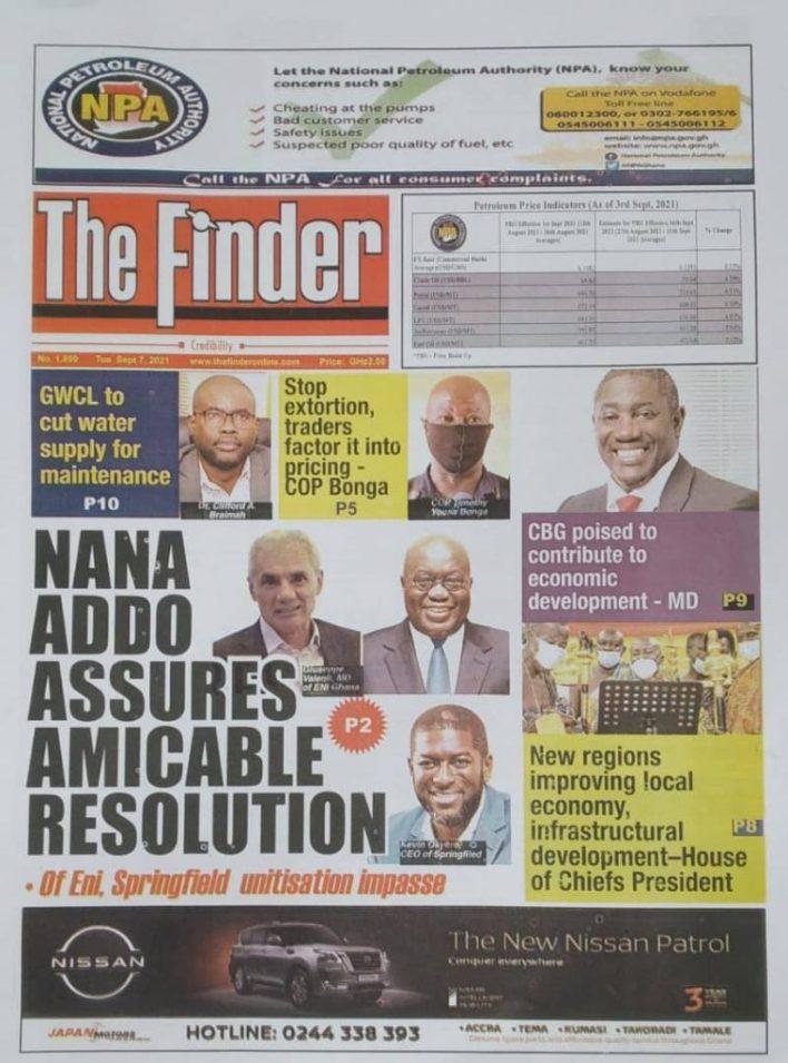 Newspaper Headline Of Tuesday, September 7, 2021 9