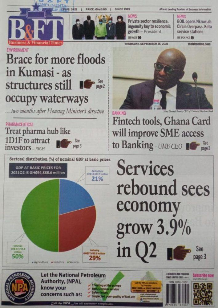 Newspaper Headline Of Thursday, September 16, 2021 6