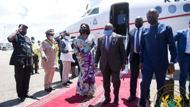 Photo of Nana Addo in Guinea to confer with military junta