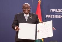 Photo of Akufo-Addo receives Serbia's highest national award