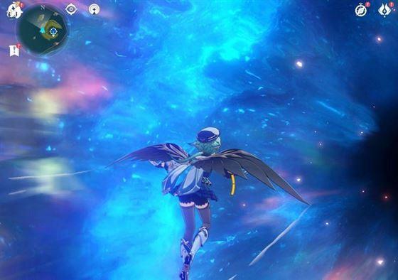 Пройдя через портал, чтобы добраться до Маск-рифа в Genshin Impact (Изображение через Sportskeeda)