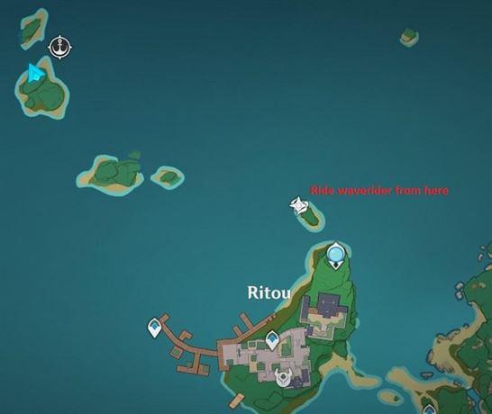 29 Маленький остров Электрокулус возле карты Риту