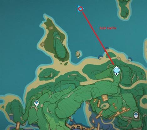 45 Посреди моря Карта