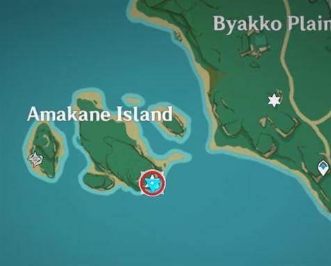 6 Остров Электрокулус Амакане над картой дерева