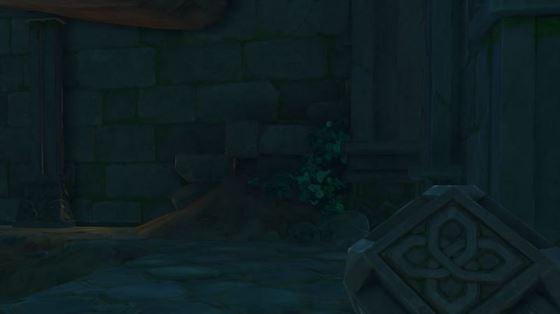 Контекст для старого каменного сланца у лестницы в руинах Арауми (изображение через Genshin Impact)