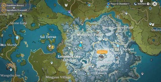 Расположение третьего осколка на карте (Изображение через ZafrostPet, Youtube)