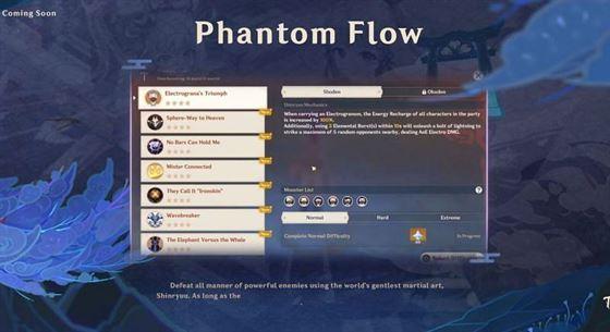 Семь испытаний в событии Phantom Flow (Изображение предоставлено Genshin Impact)