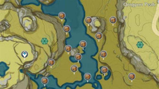 Вторая часть сундука Таинственной Луны в Наньтяньмэнь (изображение с интерактивной карты)