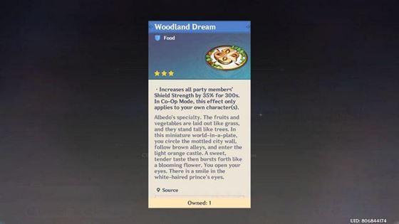 Woodland Dream (Изображение предоставлено Genshin Impact)