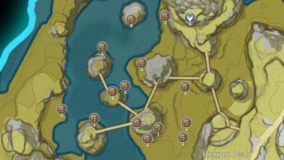 Первая область сундука Мистической Луны в Наньтяньмэнь (изображение с интерактивной карты)