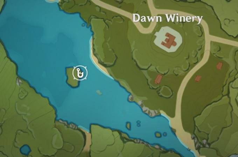 Место для рыбалки возле винодельни Dawn