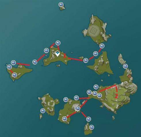 Карта расположения фермы Starconch 1 Каменный лес Гуюнь
