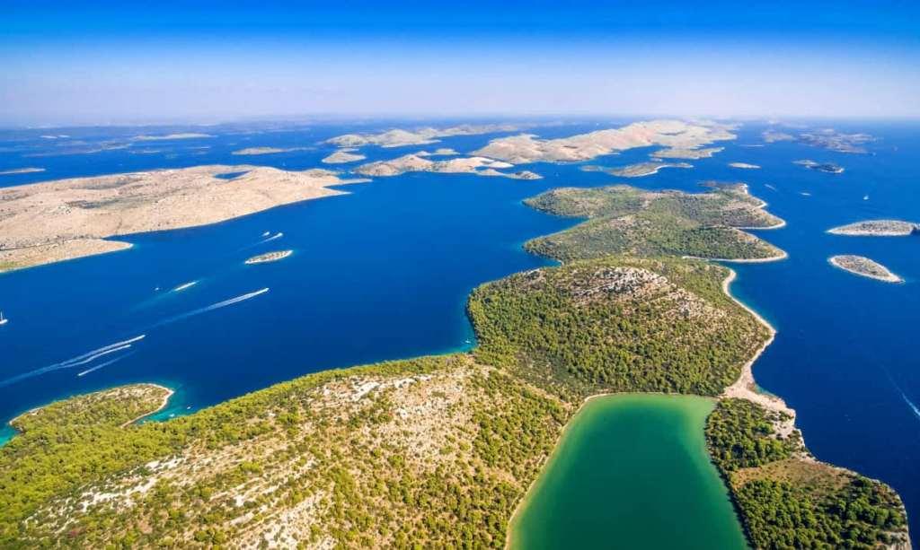 Overhead view of the Kornati Islands
