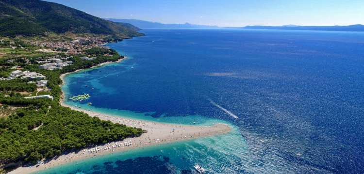 Zlatni Rat beach on the Island of Brac, Croatia