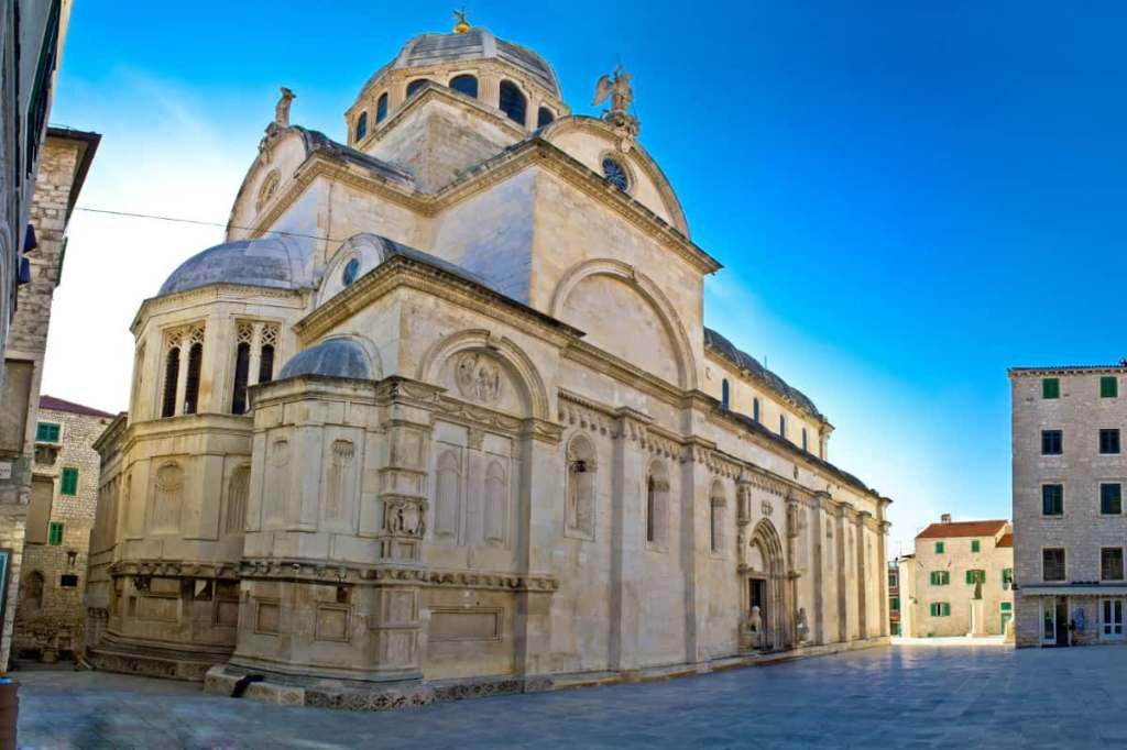 Game of Thrones filming locations with St. Jacob's cathedral in Sibenik as the Iron Bank of Braavos