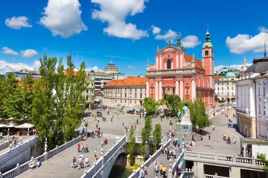 Slovenia's capital city of Ljubljana