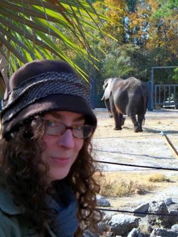 Beth Rubin at a Florida Zoo