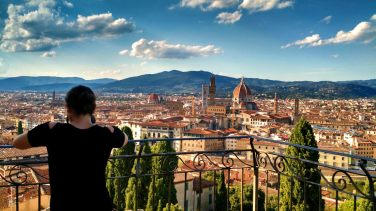 View of Firenze from Villa Bardini, Italy
