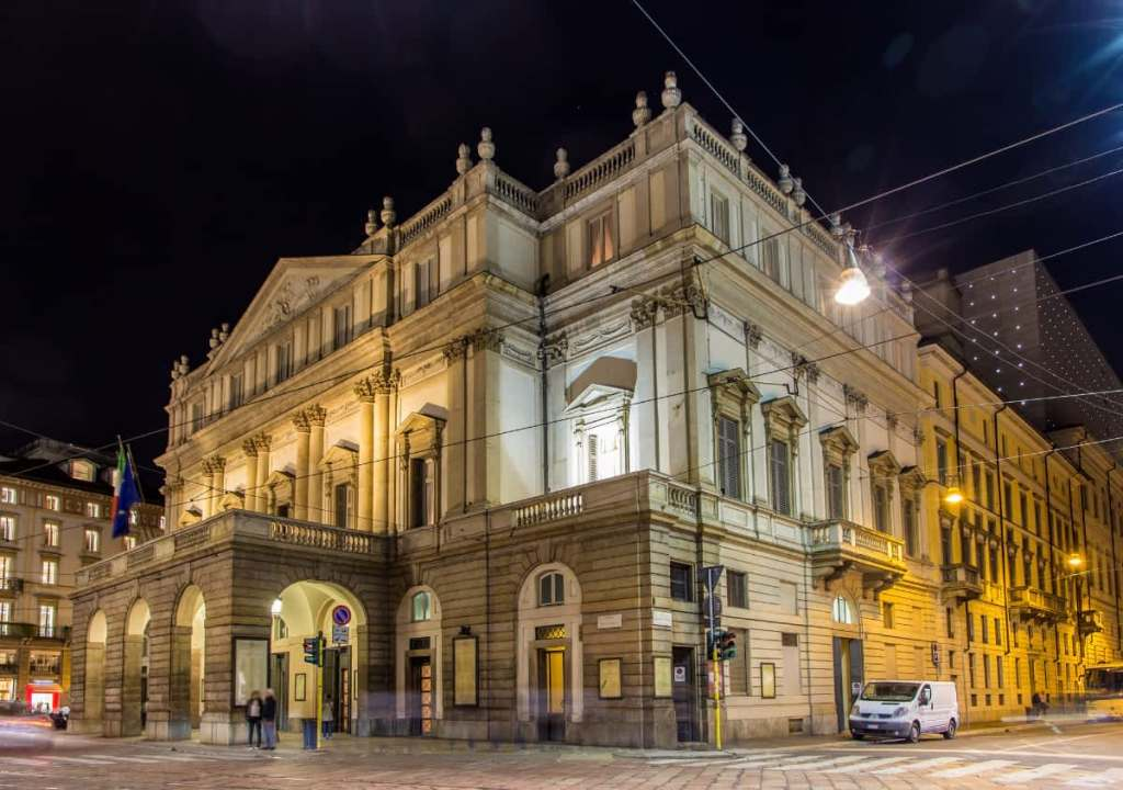 Most photographed places in Italy: Milan's La Scala opera house
