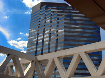 Cool reflections off a high rise building in Baltimore, Maryland