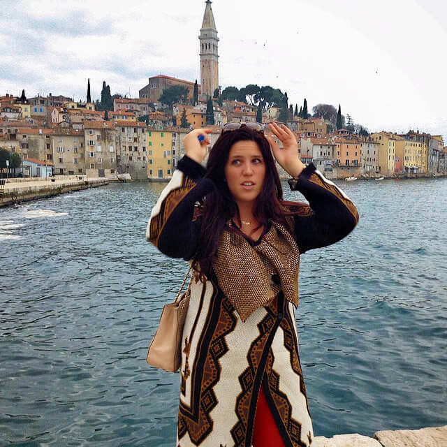 Posing in picturesque Rovinj, Croatia