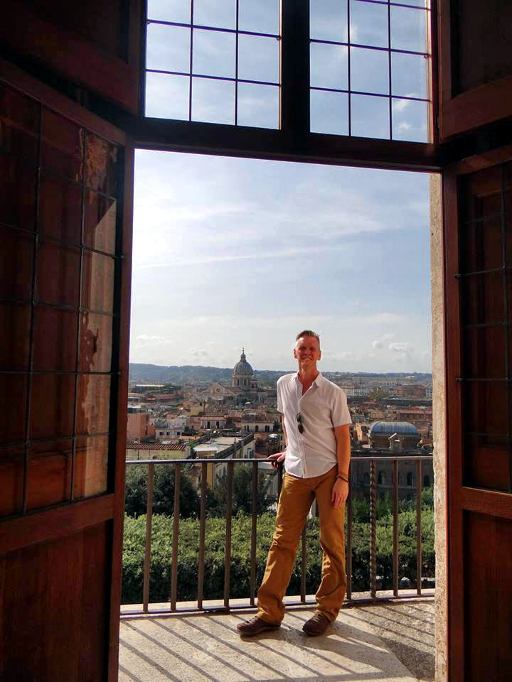 View from Villa Medici in Rome, Italy