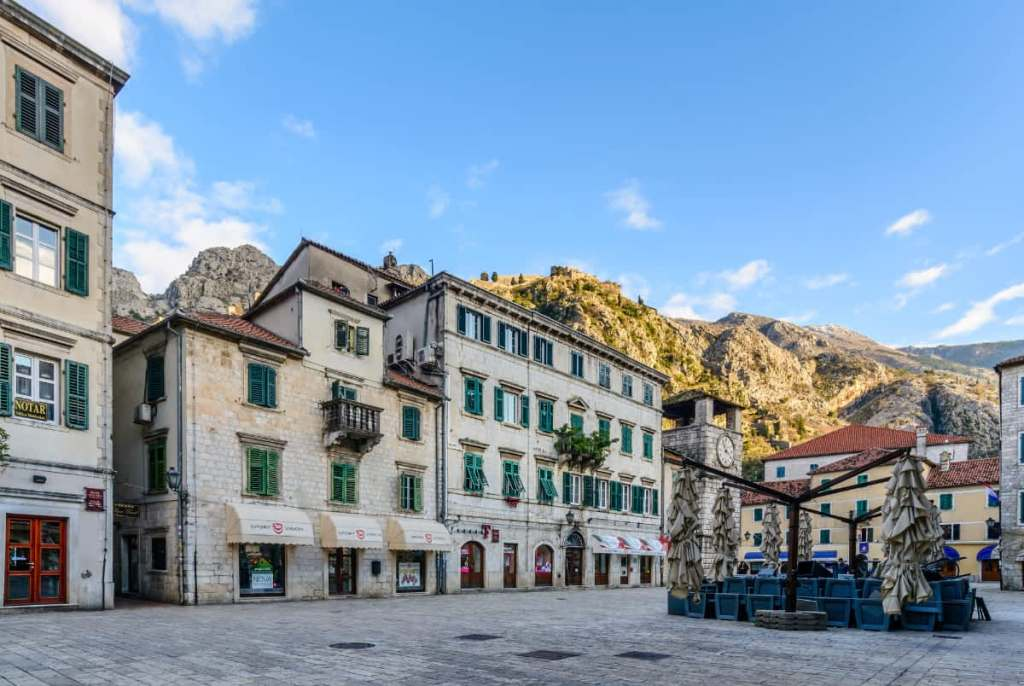 A square in Kotor's Old Town