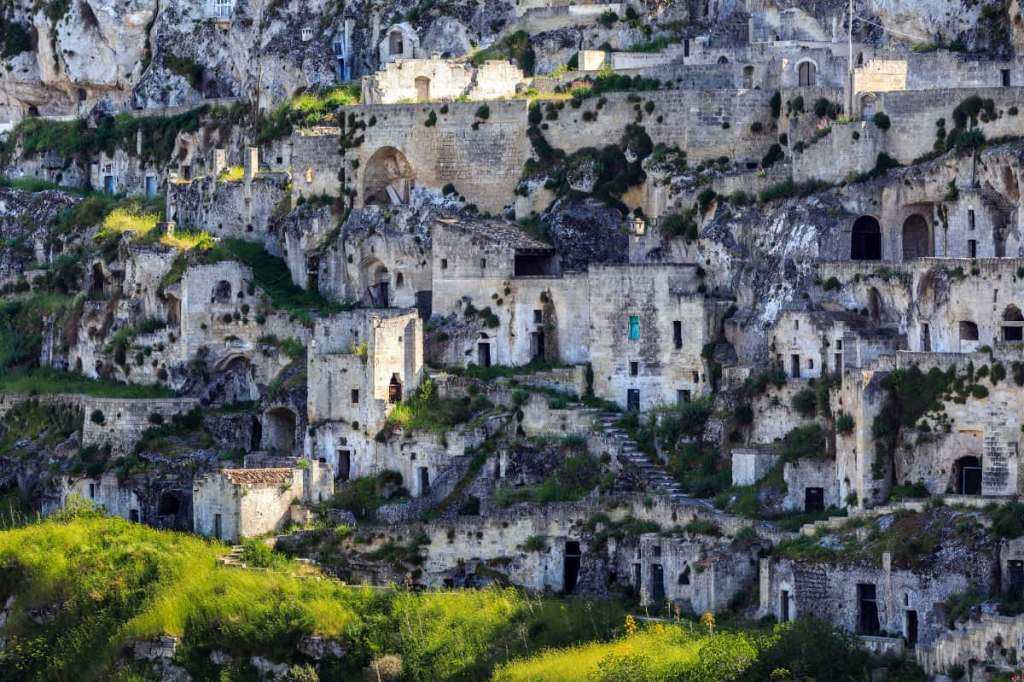 A series of cave housing that make up the sassi di Matera