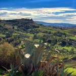 View of the countryside in Agrigento, Sicily, Italy