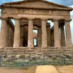 Greek temple ruins in Agrigento, Sicily