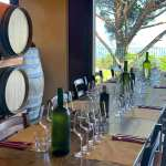 A table set for a wine tasting at Gambino Winery, Sicily