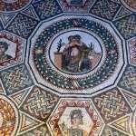 Mosaic remains from Villa Romana del Casale in Sicily