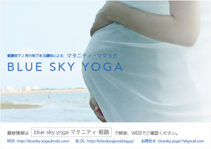 BLUE SKY YOGA / A6 / 片面カラー / フライヤー